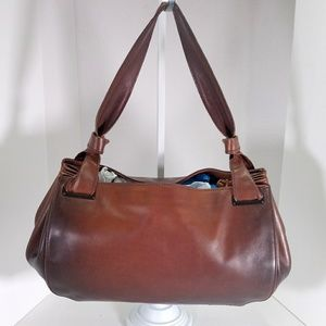 Gucci Brown Large Leather Vintage Shoulder Bag